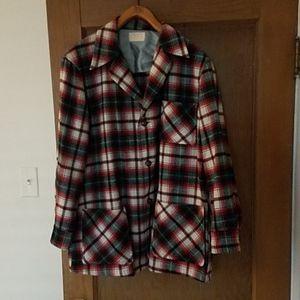 Pendleton Vintage Wool Plaid Shirt Jacket Men's M